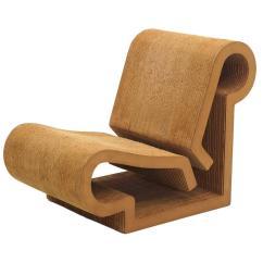 Frank Gehry Cardboard Chair Power Recliner Lift Rare Original Easy Edges Contour