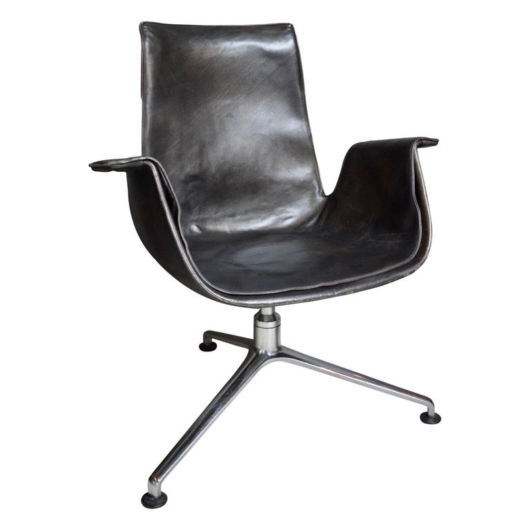 office chair steel base with wheels nice bean bag chairs fabricius bird desk three legged for sale at 1stdibs
