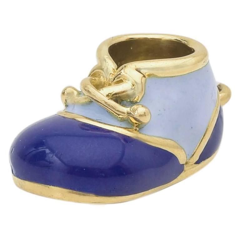 Baby Shoe Enamel Charms