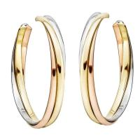 Cartier Tricolor Gold Trinity Hoop Earrings at 1stdibs