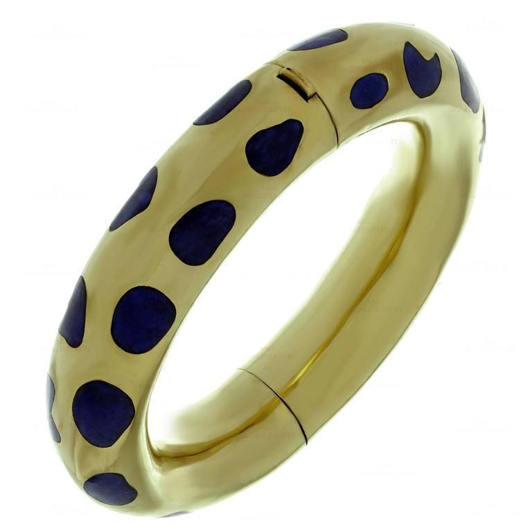Tiffany And Co Angela Cummings Lapis Lazuli Gold Bracelet