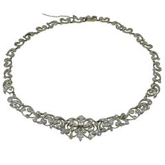 Axel Russmeyer Crystal Bead Gold Necklace For Sale at 1stdibs