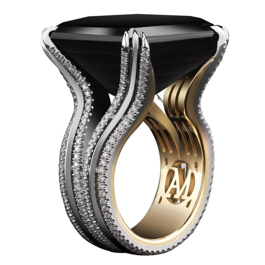 Asscher Cut Black Tourmaline Ring ( Special Order , size ...