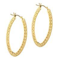 Ray Griffiths Gold Oval Hoop Crownwork Earrings at 1stdibs