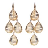 Ray Griffiths Quadruple Pear Shaped Gold Drop Earrings at ...