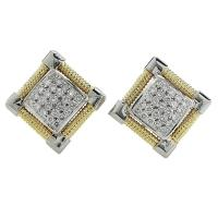 1.15 Carat Diamond Gold Stud Earrings For Sale at 1stdibs