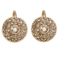 Italian Champagne Diamond Leverback Earrings For Sale at