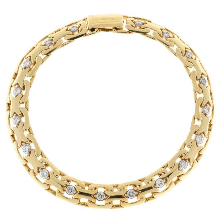 Absolute Diamond Gold Bismark Bracelet For Sale At 1stdibs