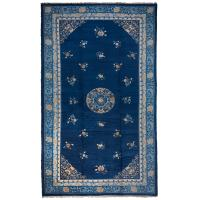 Antique Chinese Peking Carpet in Blue, Peach and Ivory For ...