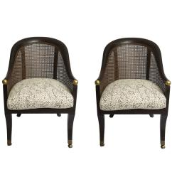 Cane Chairs For Sale Chair Cover Rentals Fort Worth Pair Of With Menton Leopard Fabric At