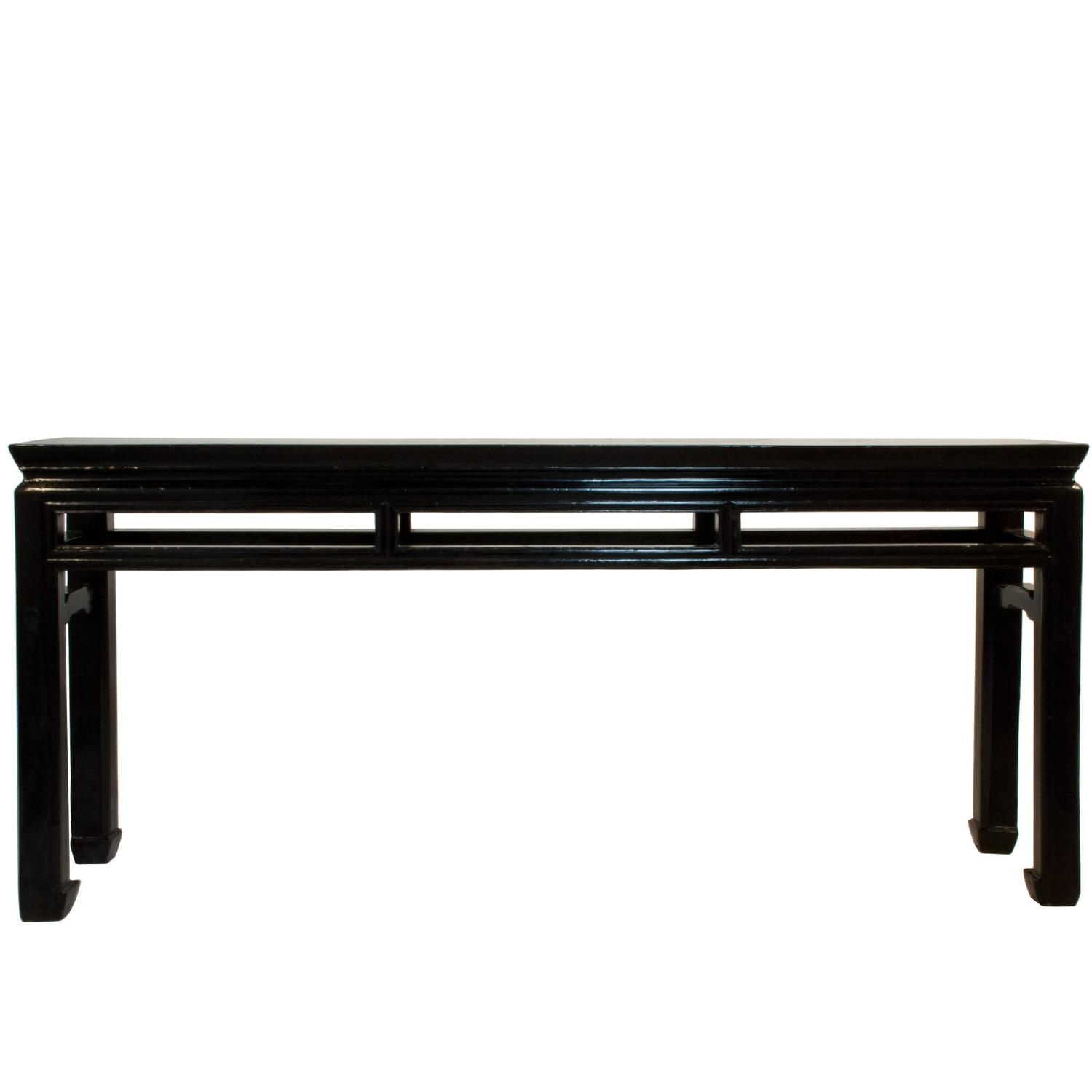 black lacquer sofa table cat urine on cushion lacquered shanxi console at 1stdibs