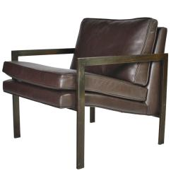 Milo Baughman Chair Covers Price Bronze And Leather Lounge At 1stdibs