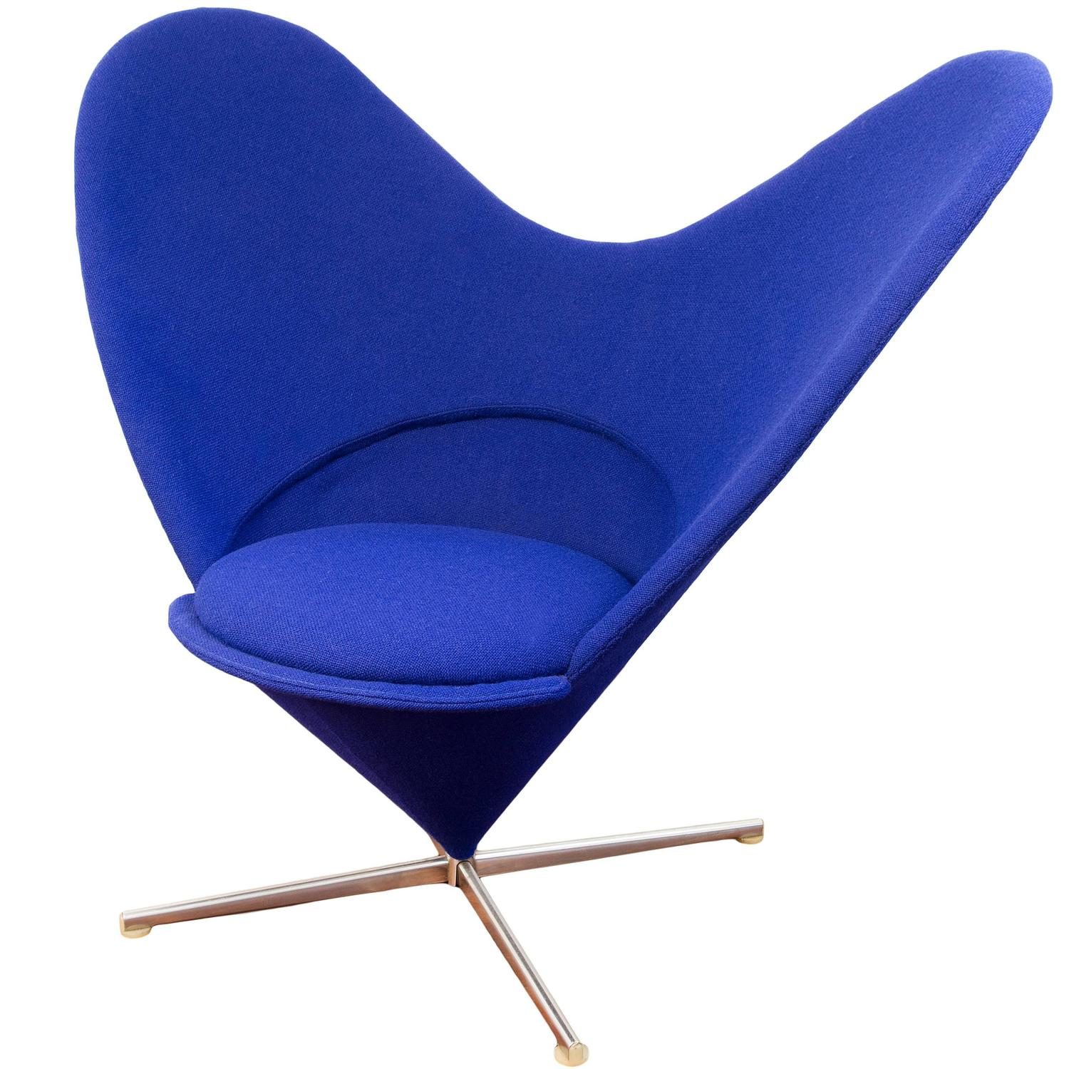 Heart Chair Heart Chair By Verner Panton At 1stdibs
