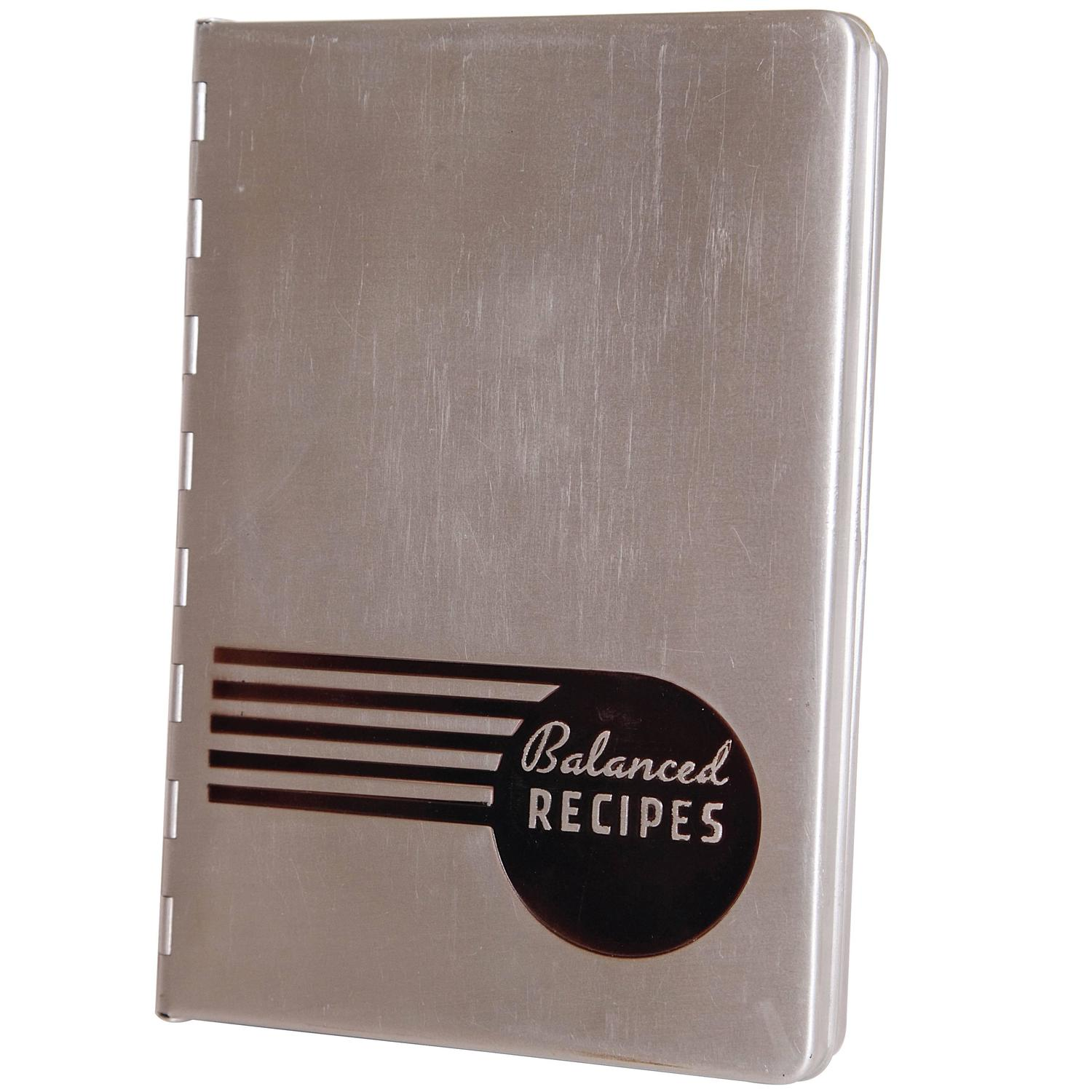 pillsbury balanced recipes streamline aluminum art deco book 1933