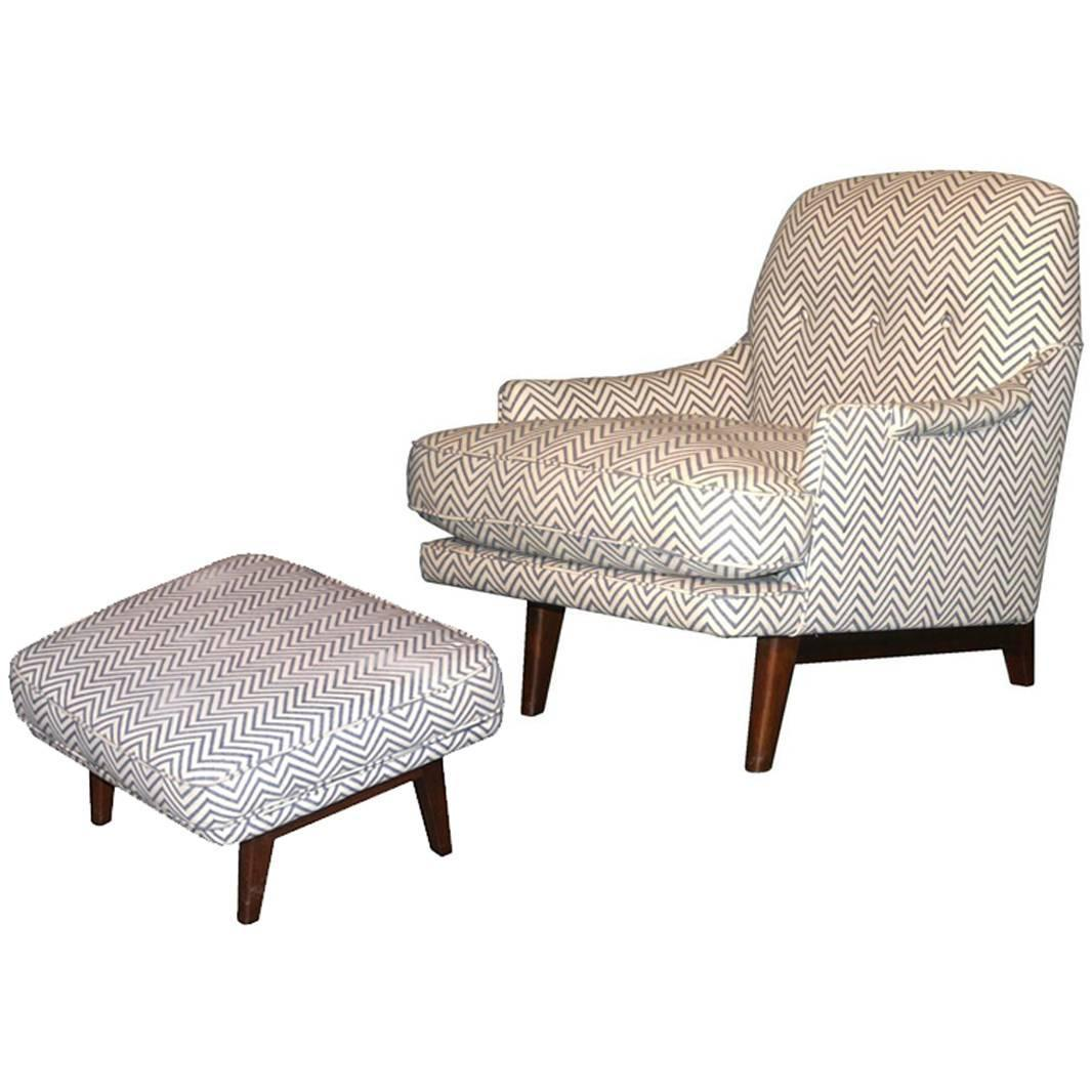 modern lounge chair and ottoman set revolving computer classic by dunbar at 1stdibs