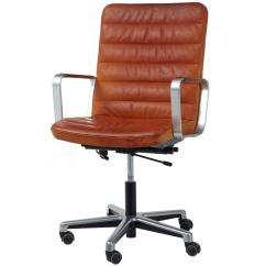 Leather And Chrome Chairs Used Lift For Elderly 20th Century Scandinavian Modern Office
