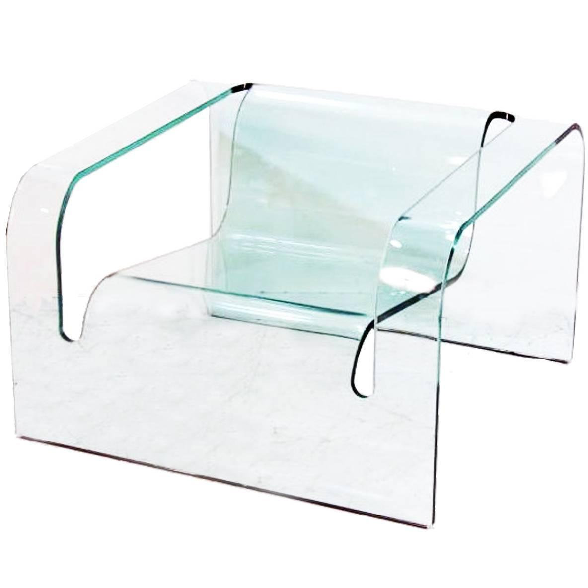 Glass Chair Modern Italian Glass Chair In The Style Of Cini Boeri For