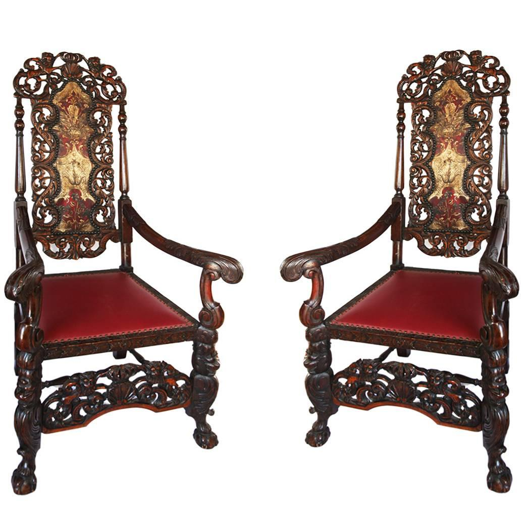 french antique chairs for sale plycraft chair pair of exquisite high back walnut