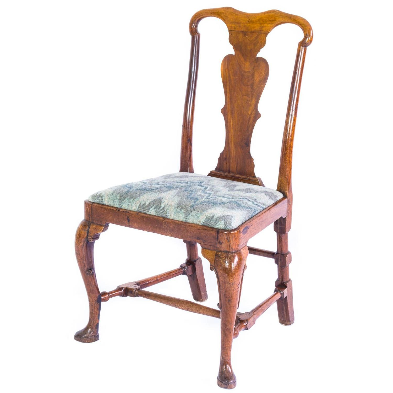 antique queen anne chair low back 18th century george i walnut at 1stdibs