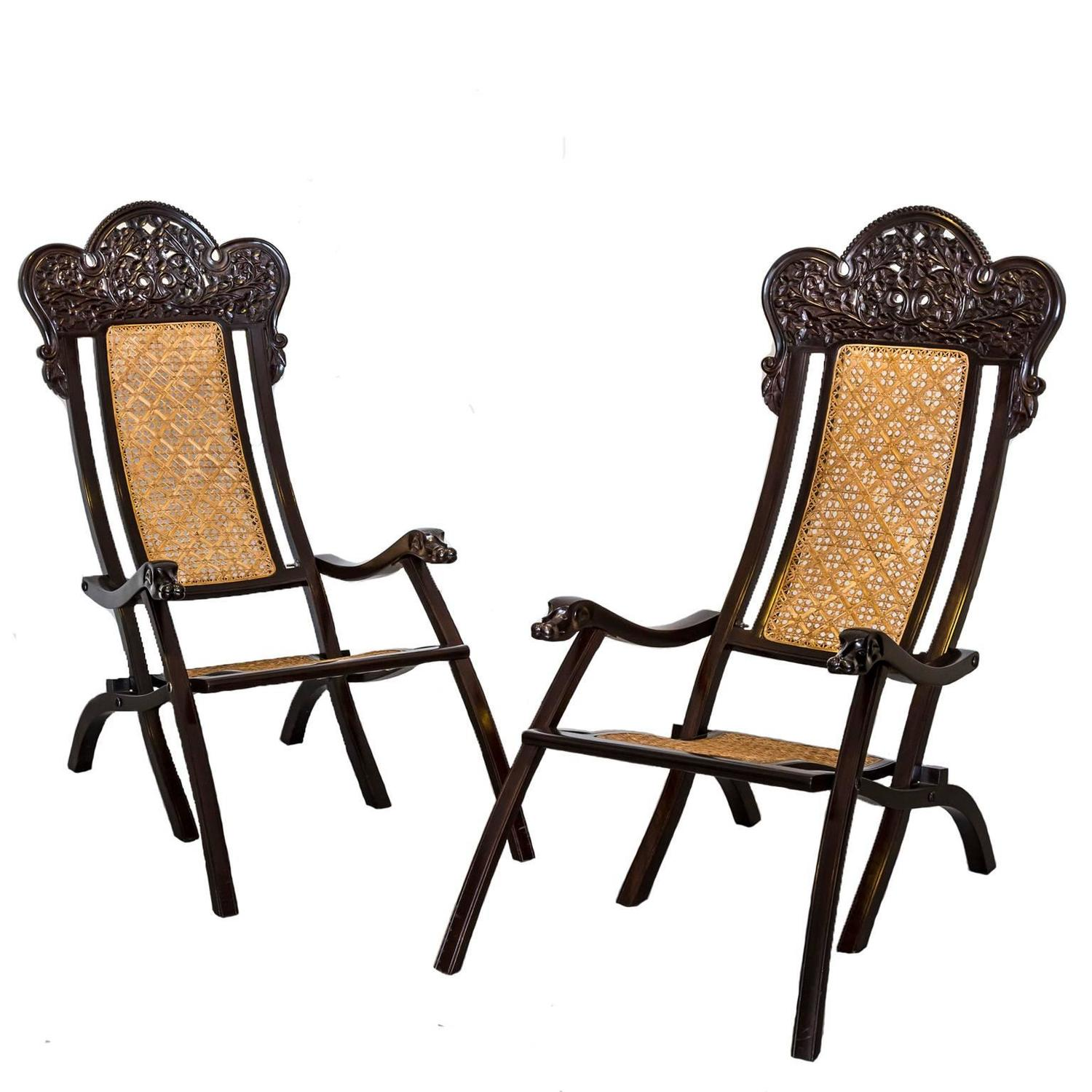 folding chair india stuffed animal chairs for toddlers pair of indo portuguese or colonial rosewood