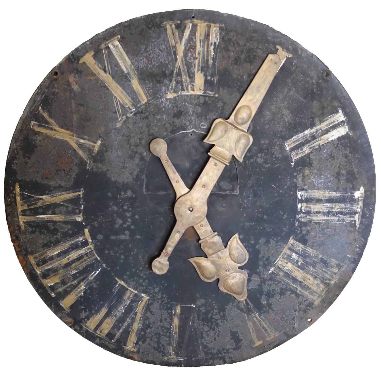 French Iron Decorative Wall Clock at 1stdibs