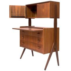 Dining Chair Styles Antique Hanging Uk Organic Teak Secretary Desk, Danish Mid-century Modern, 1950s At 1stdibs