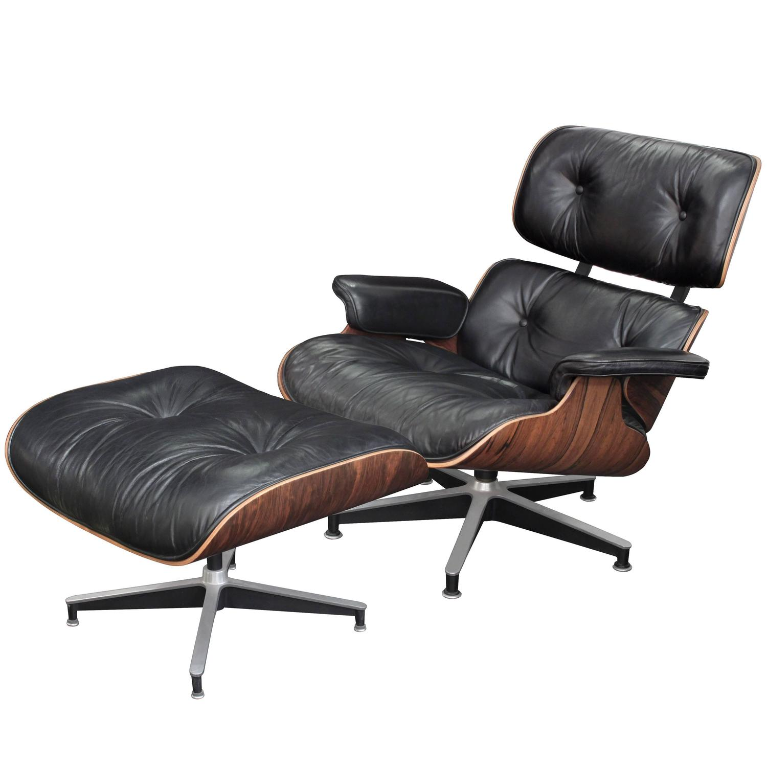 Charles Eames Lounge Chair Iconic Lounge Chair And Ottoman By Charles And Ray Eames