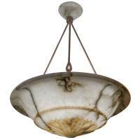 Alabaster Light Fixture at 1stdibs