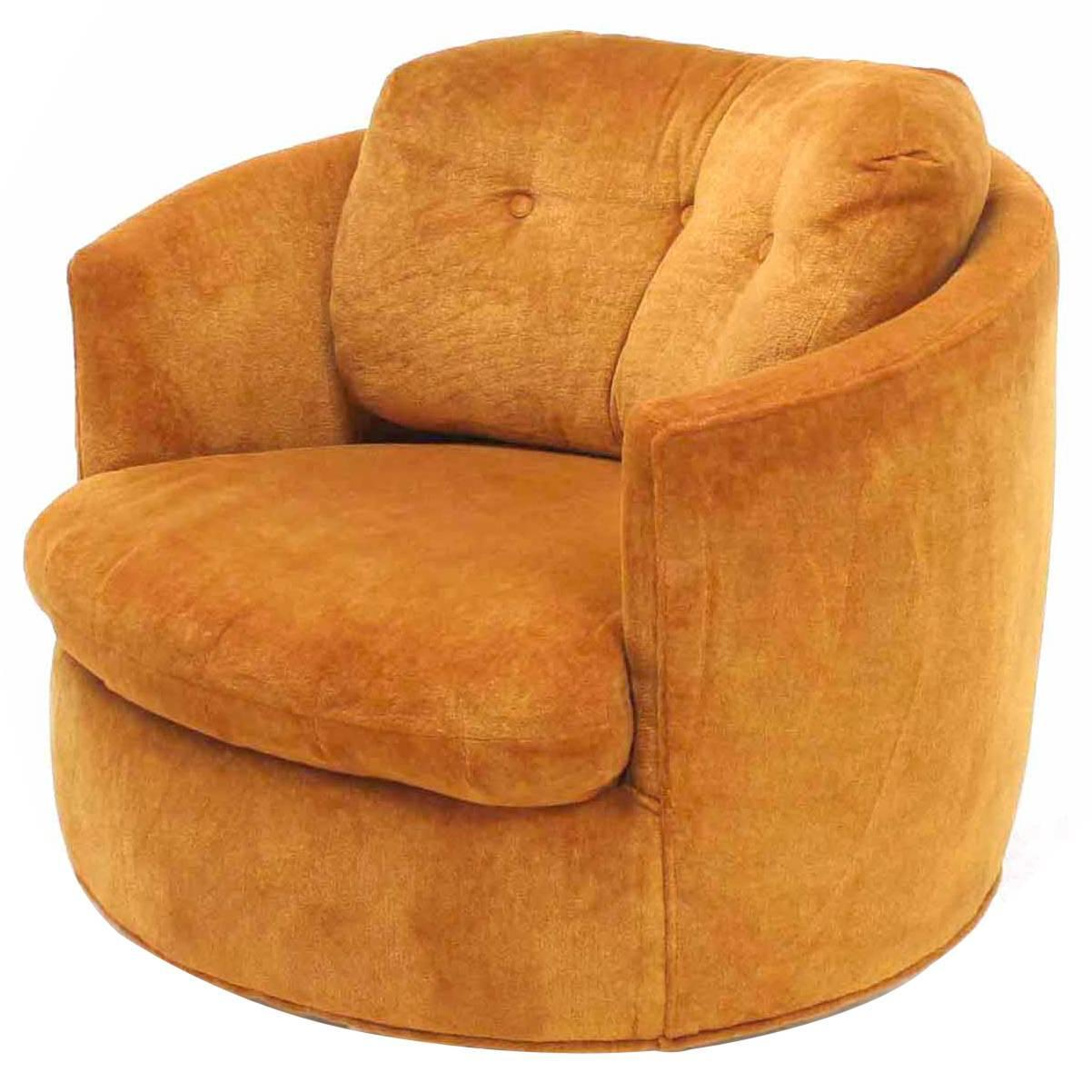 swivel chair round rocking lawn folding mid century modern barrel back lounge