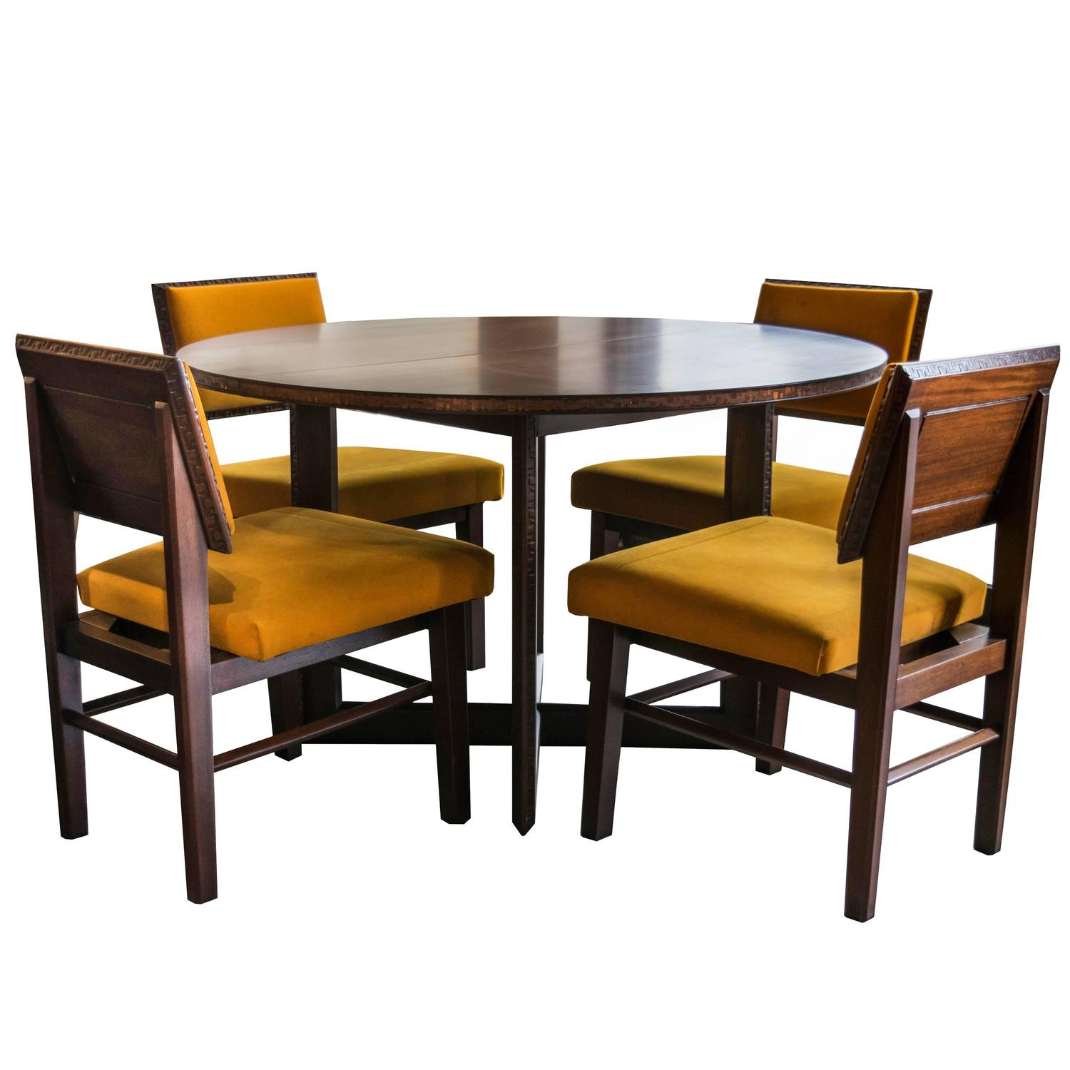 frank lloyd wright chairs wedding king and queen for sale henredon dining table with