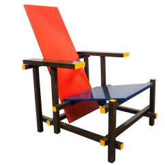Red Blue Chair Fisher Price Papasan Gerrit Rietveld By Cassina Italy 1980 For