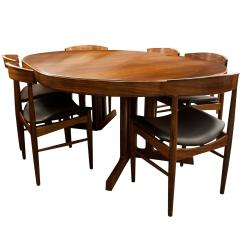 Dining Table Set 6 Chairs Clip On High Chair Uk Mid Century Modern Design Rosewood And Six