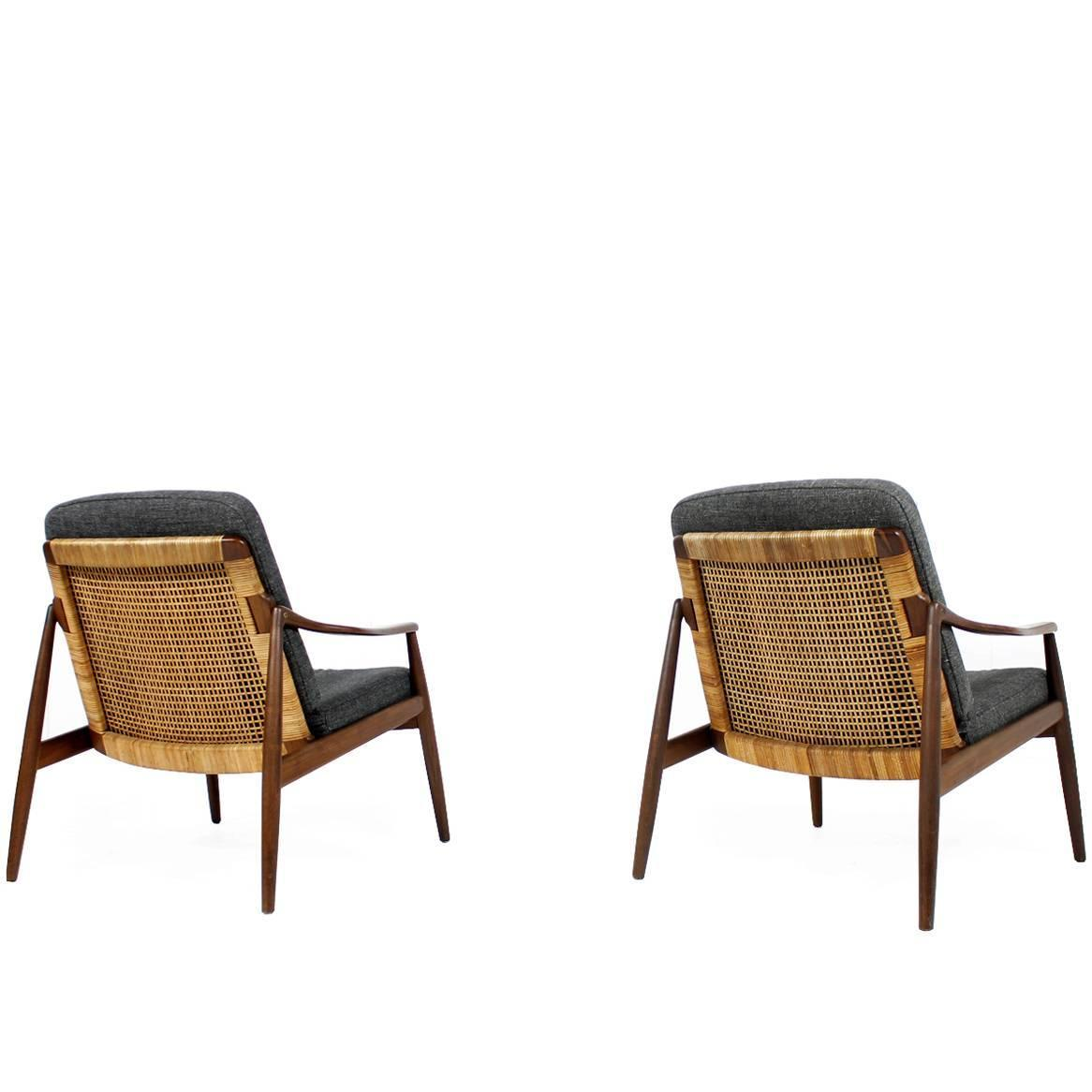 cane easy chair back jack amazing pair of 1950s lohmeyer for wilkhahn and teak