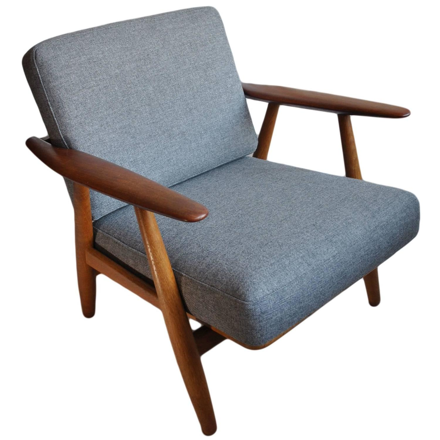 Cigar Lounge Chairs Original Hans J Wegner Ge240 Cigar Chair At 1stdibs