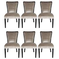Set of Mid-Century Dining Chairs in Ebonized Walnut and ...