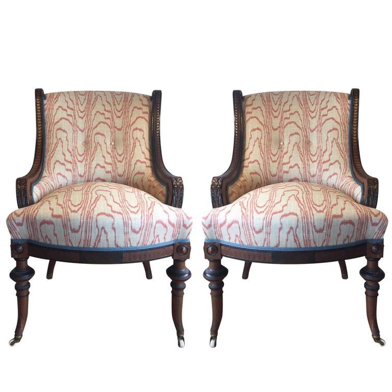 17th Century Victorian Walnut Nursing Chairs At 1stdibs