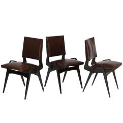 Pre Tables And Chairs Expensive High Babies Modernist Mid Century Maurice Brown Leather Dining