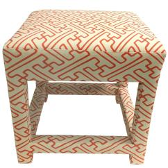 Seng Chicago Chair Baby Chairs For Bathtub David Hicks Style Quadrille Upholstered Parsons Stool