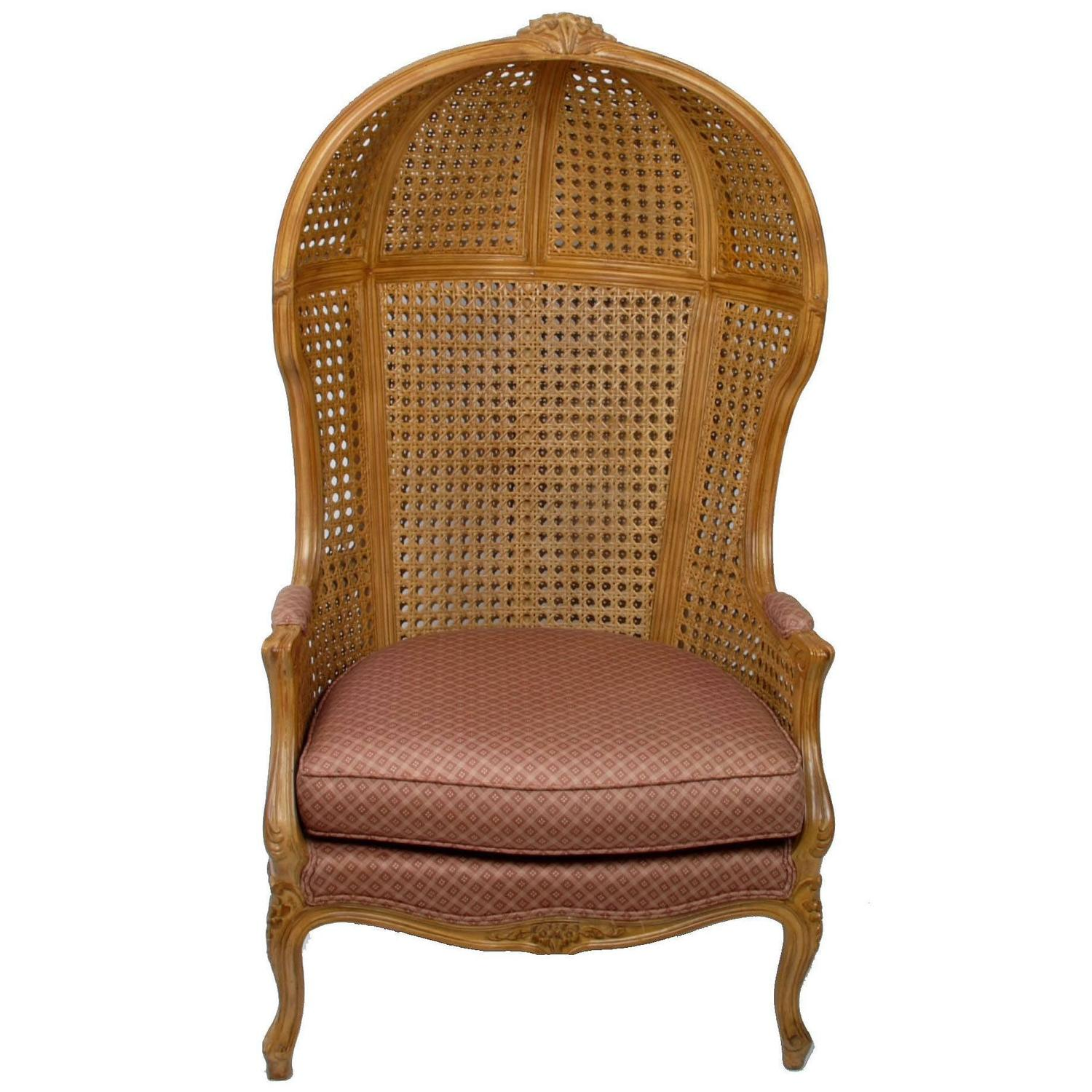 cane back chairs antique swivel chair for bedroom vintage hand carved high hooded sale