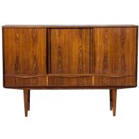Mid-Century Modern Rosewood Wall Cabinet at 1stdibs