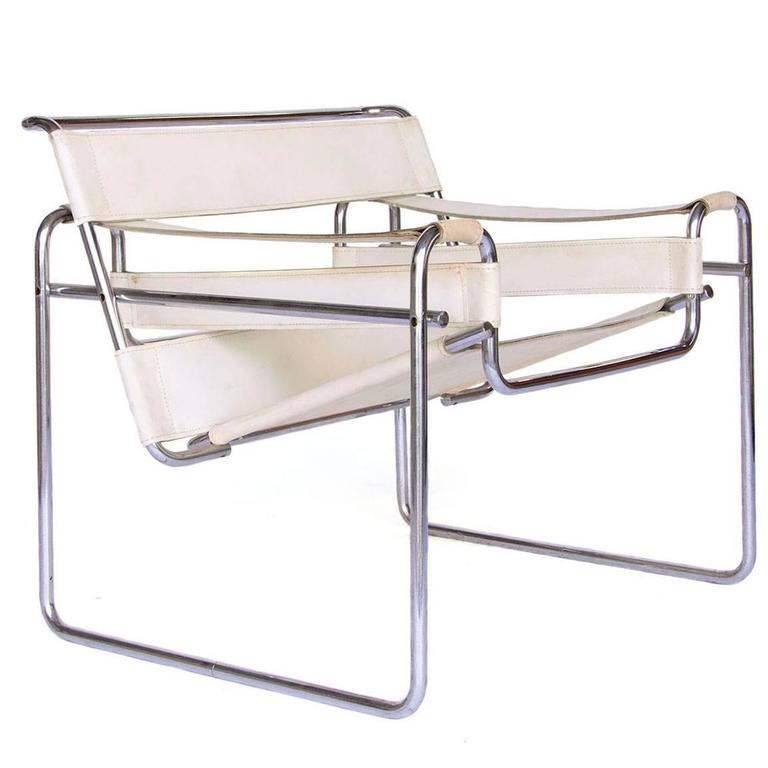 white leather chairs for sale swivel chair millberget review 1925 marcel breuer vintage wassily at