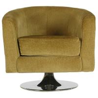 Barrel Back Swivel Chair after Milo Baughman Mid-Century ...