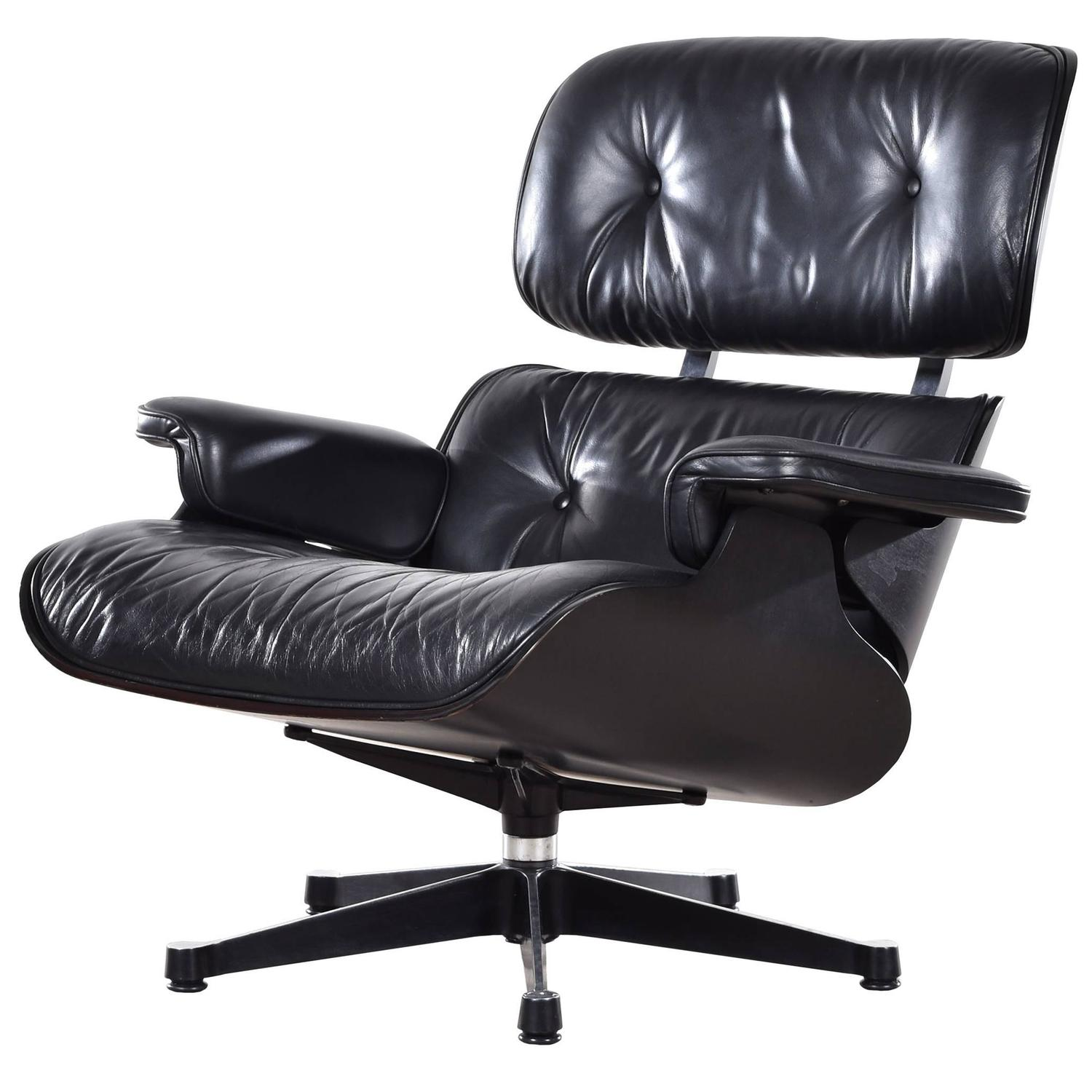 eames lounge chair for sale suzani fabric black vitra at 1stdibs