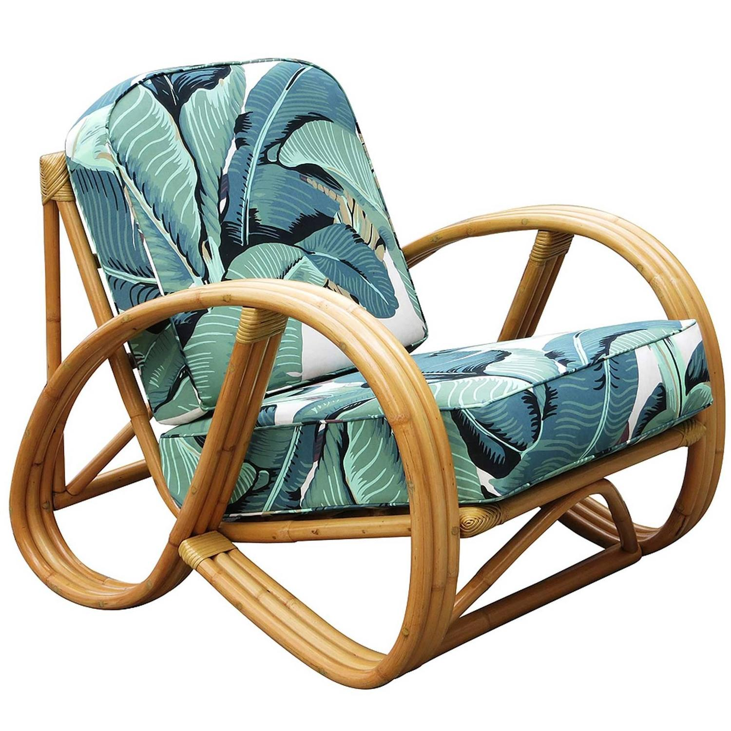 circular bamboo chair cushion dance gif 3 4 round pretzel rattan lounge with beverly palms
