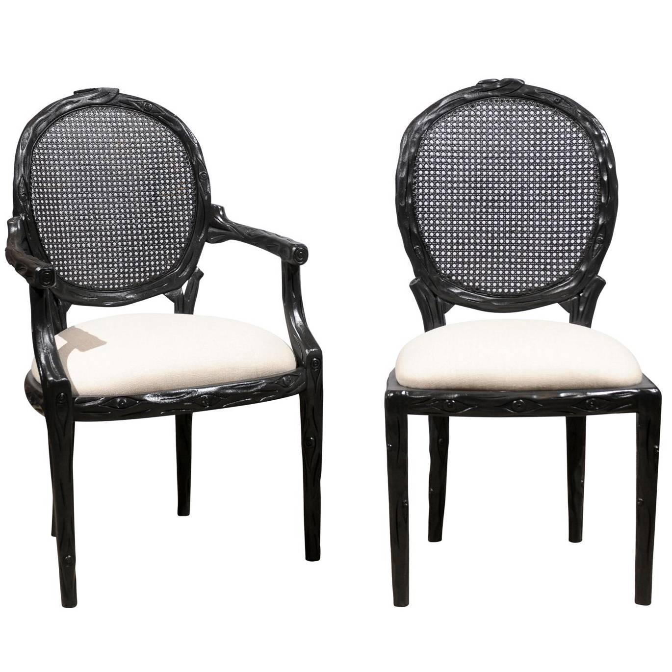 cane chairs for sale party city baby shower chair rental set of six back at 1stdibs