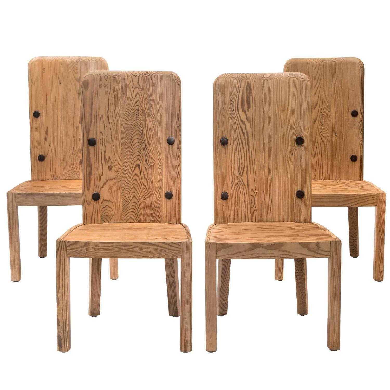 swedish high chair wheelchair width axel einar hjorth set of 4 back pine lovö