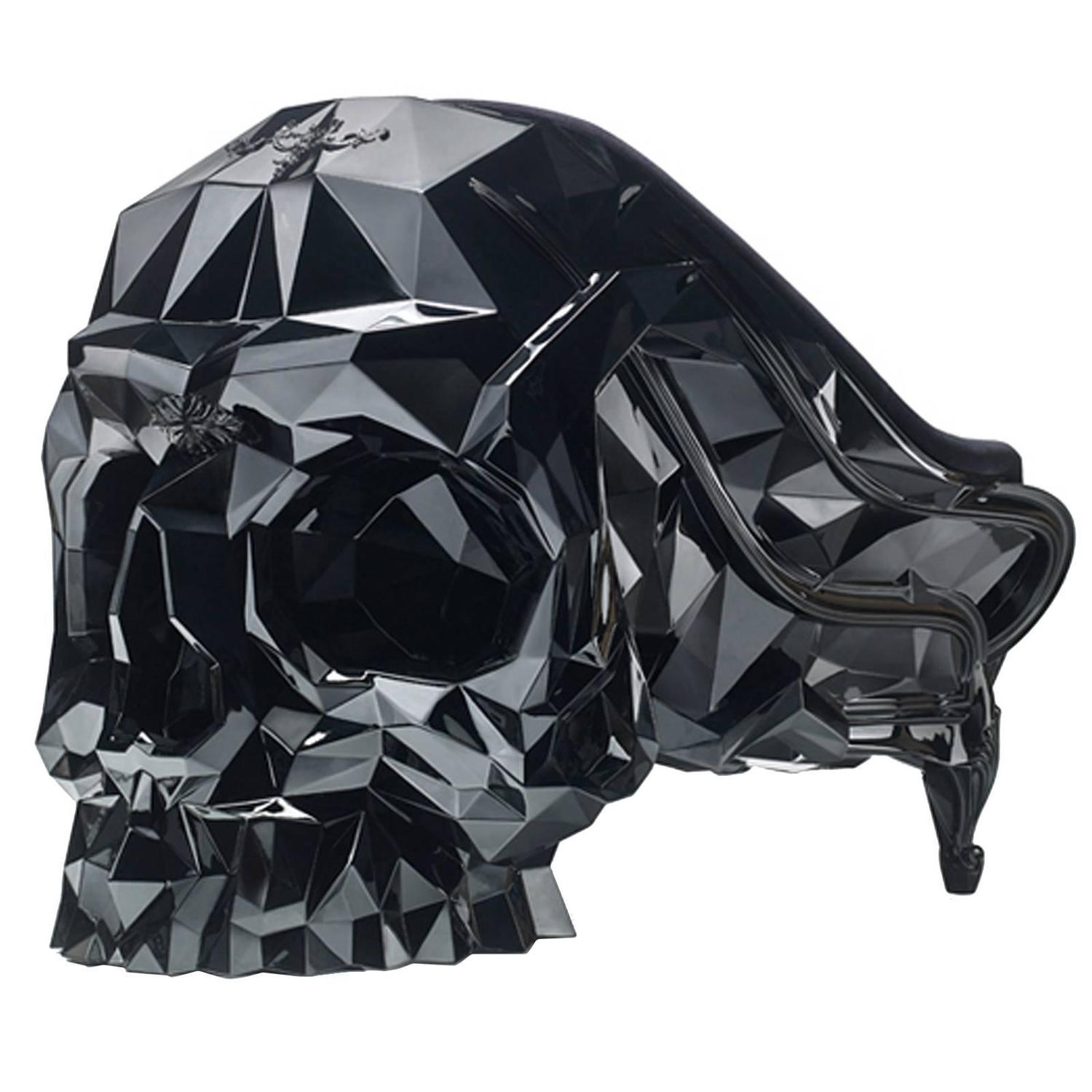 black skull chair peg perego high canada armchair faceted handcrafted with velvet seat
