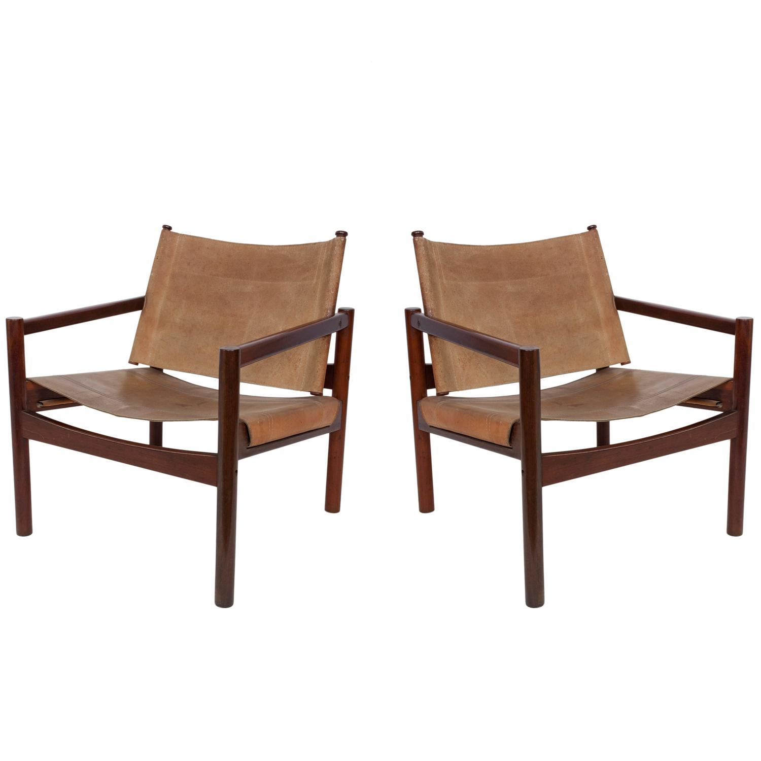 sling back chair yugoslavia folding pair of michel arnoult leather chairs for sale