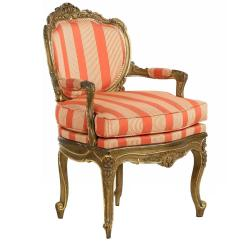 Vintage Arm Chair Walmart Lift Chairs Recliners French Louis Xv Style Polychromed And Gilded Carved