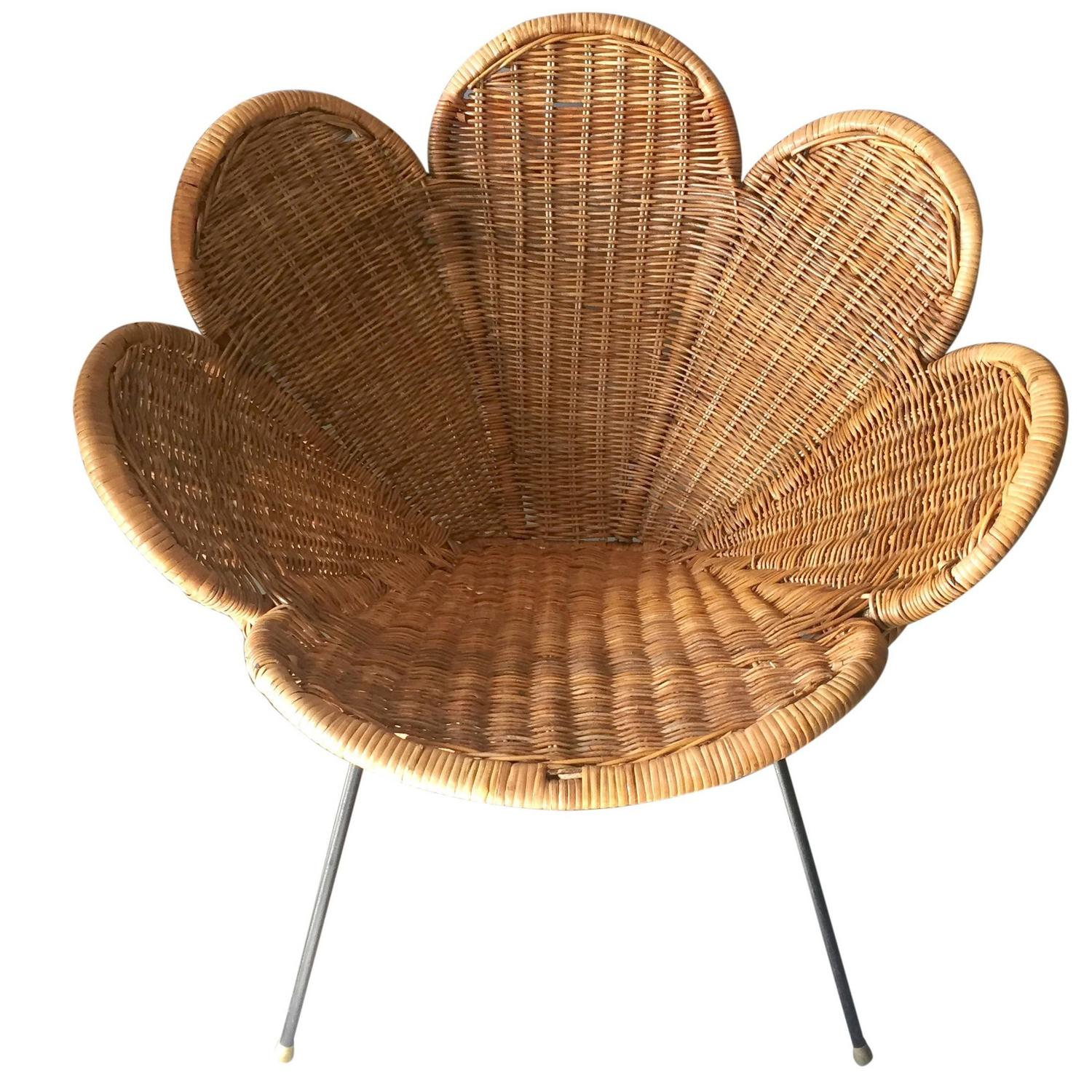 Flower Chair Rattan And Iron Flower Chair For Sale At 1stdibs